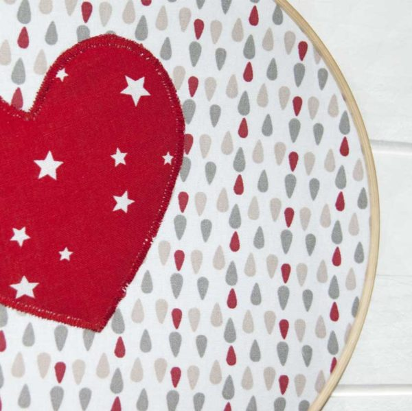 Les Jolies Zabeilles- cadre decor coeur- decoration enfant