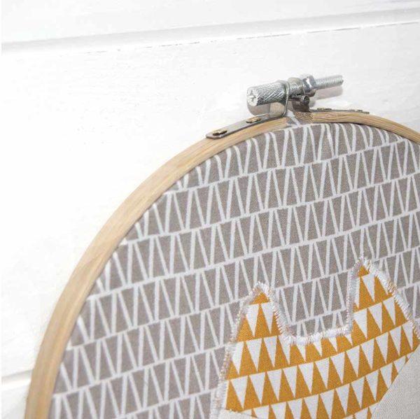 Les Jolies Zabeilles- cadre decor renard- decoration enfant