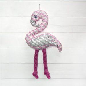Les Jolies Zabeilles- flamant rose mural- decoration enfant