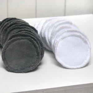 disques à démaquiller vendu en lot de 10 en blanc ou en gris anthracite