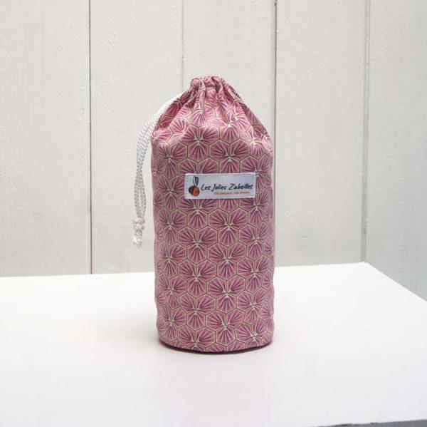 pochon et ses 20 disques à démaquiller lavables alvéoles rose
