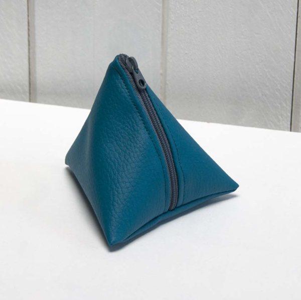 porte-monnaie berlingot bleu canard