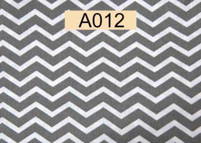 tissu coton chevrons blancs et gris référence A012