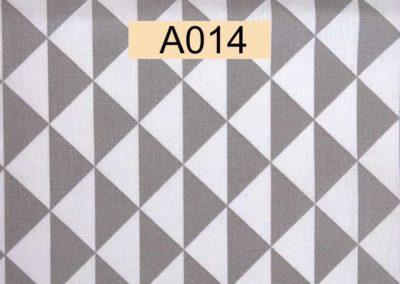 tissu coton triangles blancs et gris référence A014