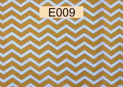 tissu coton chevrons blancs et moutarde référence E009