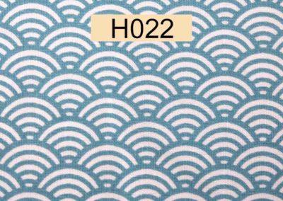 tissu coton blanc écailles bleus référence H022