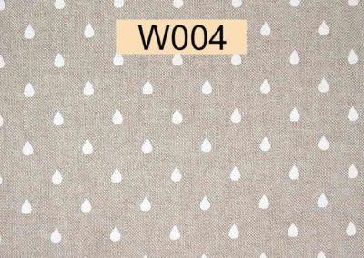 tissu lin gouttes blanches référence W004