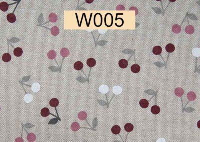 tissu lin cerises référence W005