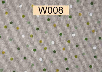 tissu lin pois verts et blancs référence W008