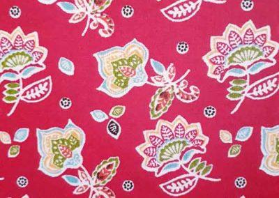 cabas rouge à fleurs référence 06