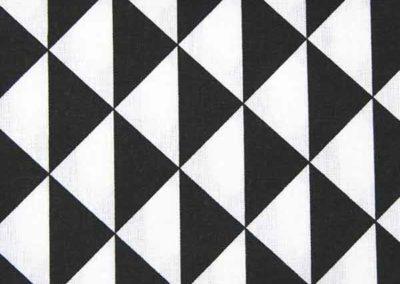 cabas noir et blanc motif triangles référence 05