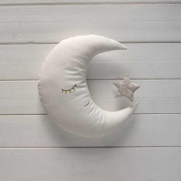 décoration murale chambre d'enfant- lune beige