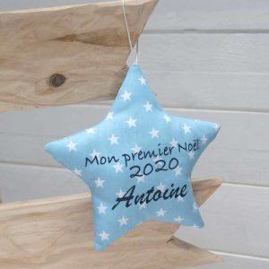 décoration de sapin étoile personnalisée