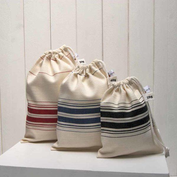 sac à vrac tissu torchon lot de 3 sacs à vrac L+M+S
