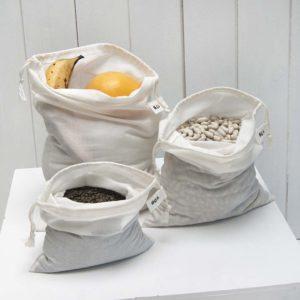 sacs à vrac zéro déchet 3 tailles